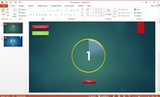 How to Make Slide Show Animation Menu Count Down and Images in Microsoft Powerpoint