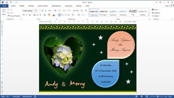 How to Make Wedding Invitation Cards in Microsoft Word