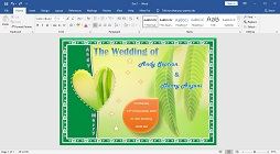 How to Make a Wedding Invitation Card Picture Watermark in Microsoft Word