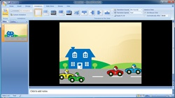 How to create custom animations of cars in Microsoft PowerPoint