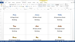 How to Create Labels With Mail Merge Using Data from Ms Excel to Microsoft Word