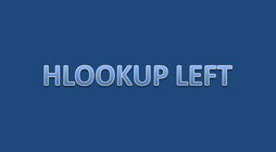 Tutorial hlookup left